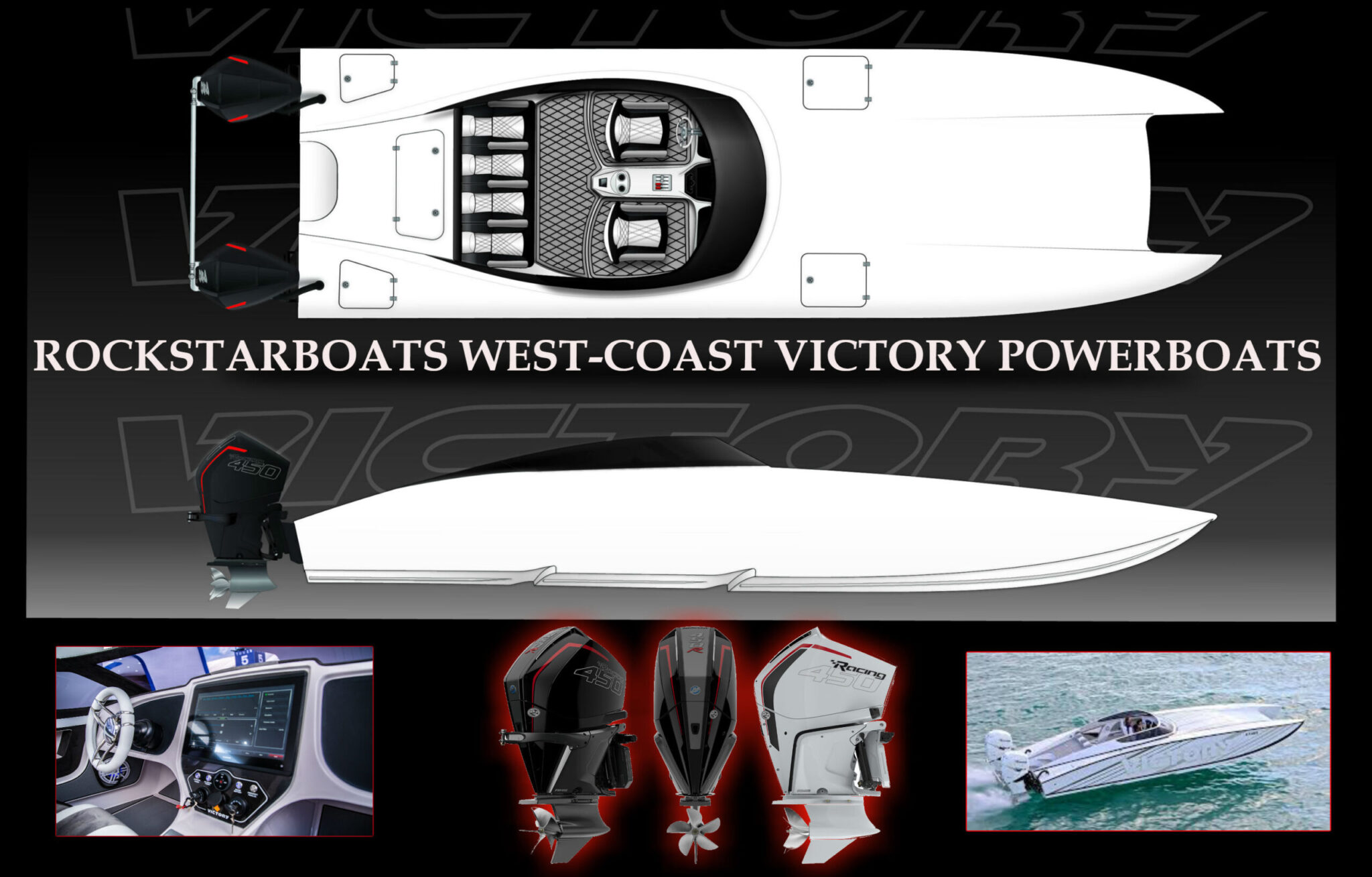 ROCKSTARBPATS WEST COST VICTORY POWERBOATS NEW FORSALE